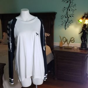 PINK Silver Sequin Long Sleeve Shirt